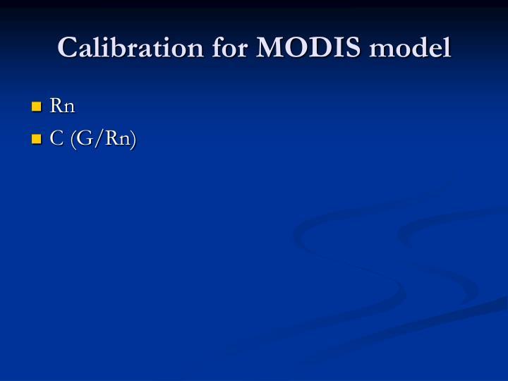 Calibration for MODIS model