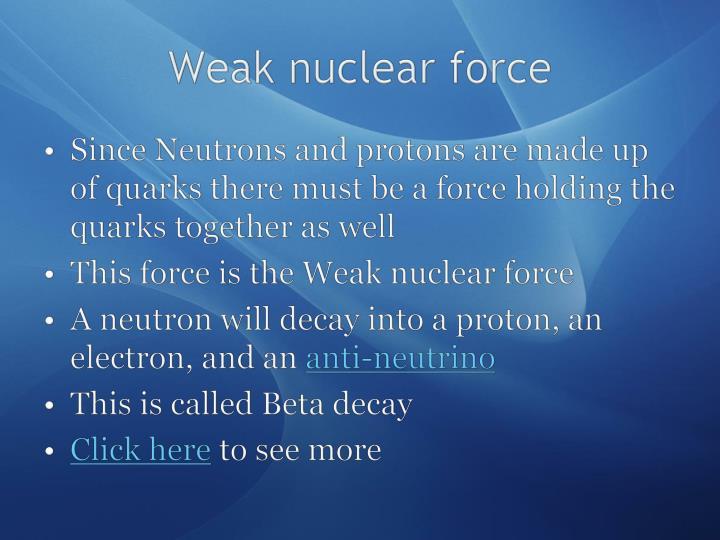 Weak nuclear force