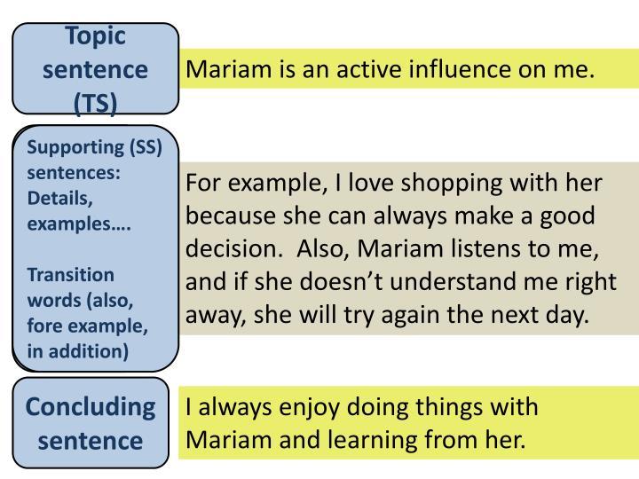 Topic sentence (TS)