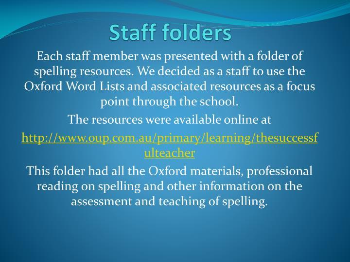 Staff folders