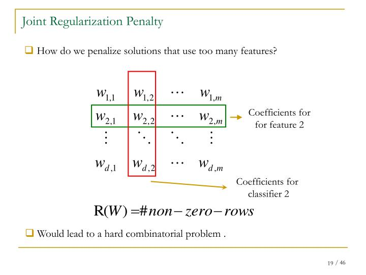 Joint Regularization Penalty