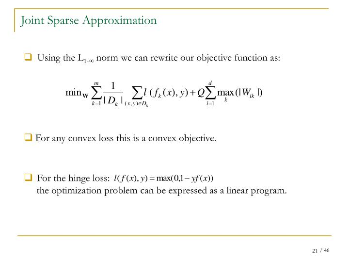 Joint Sparse Approximation