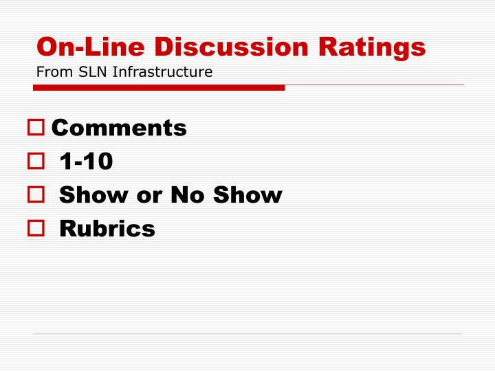 On-Line Discussion Ratings