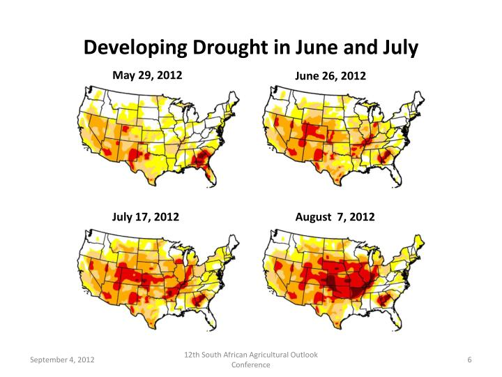 Developing Drought in June and July