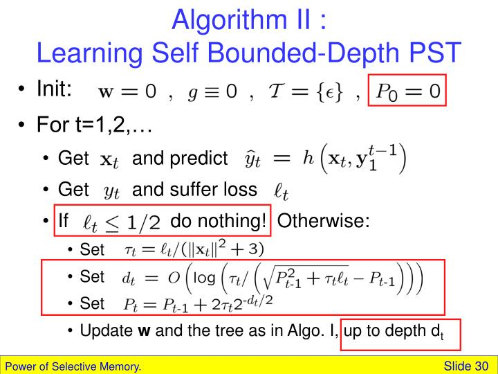 Algorithm II :