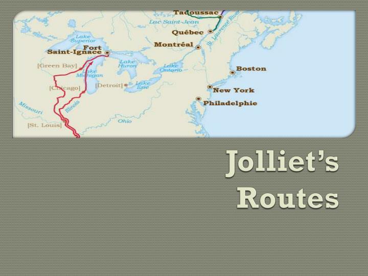 Jolliet's Routes
