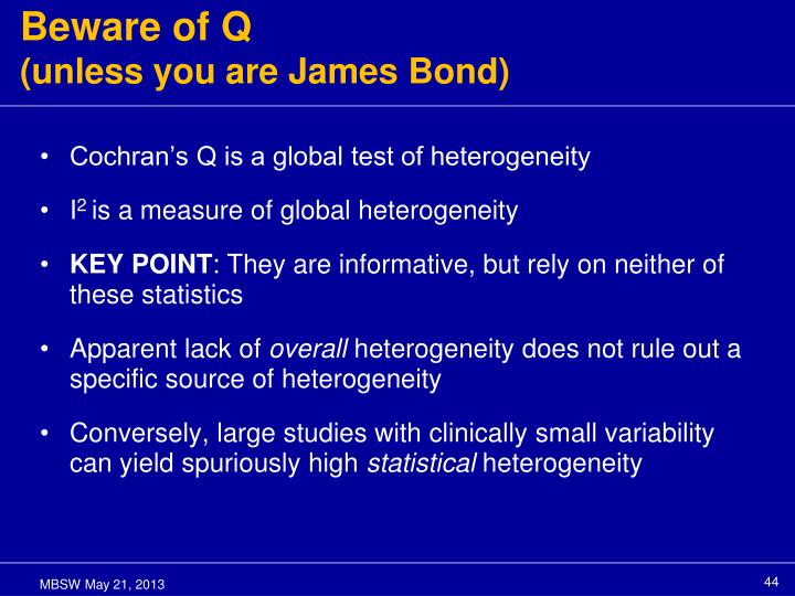 Beware of Q