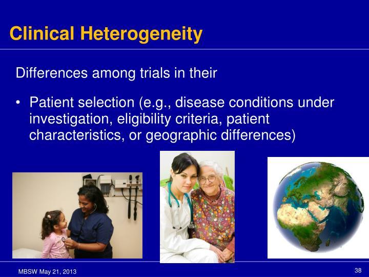 Clinical Heterogeneity