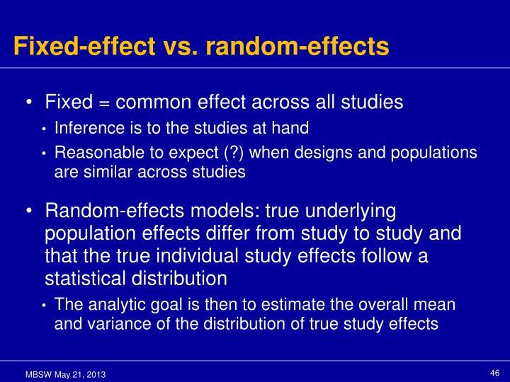 Fixed-effect vs. random-effects