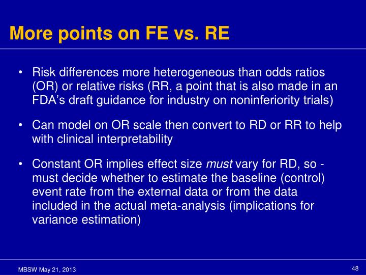 More points on FE vs. RE