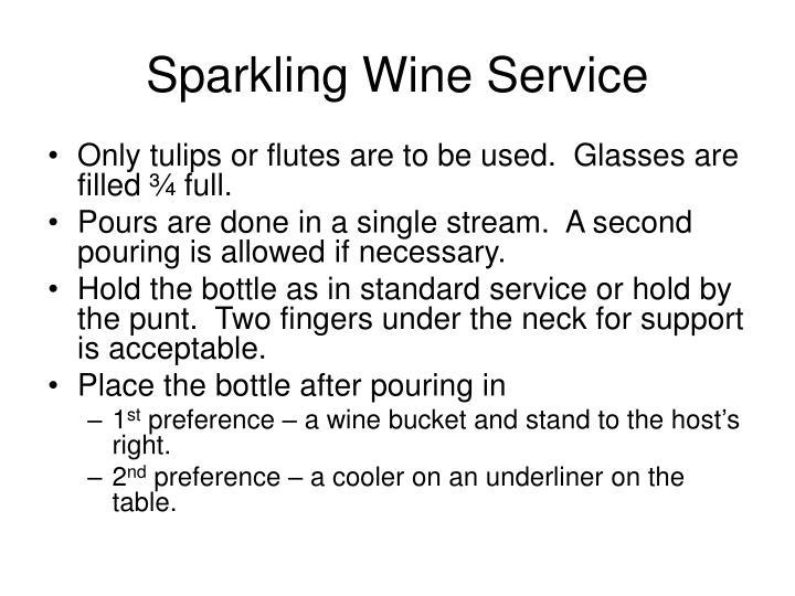 Sparkling Wine Service
