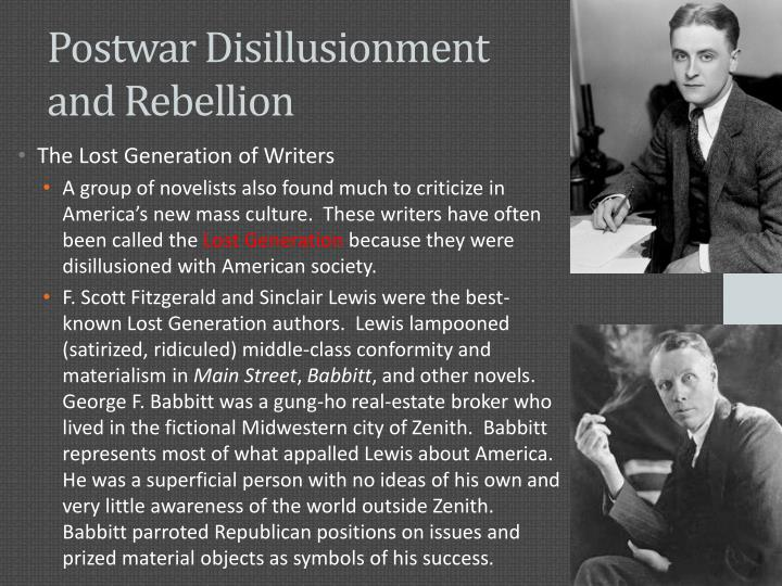 Postwar Disillusionment and Rebellion