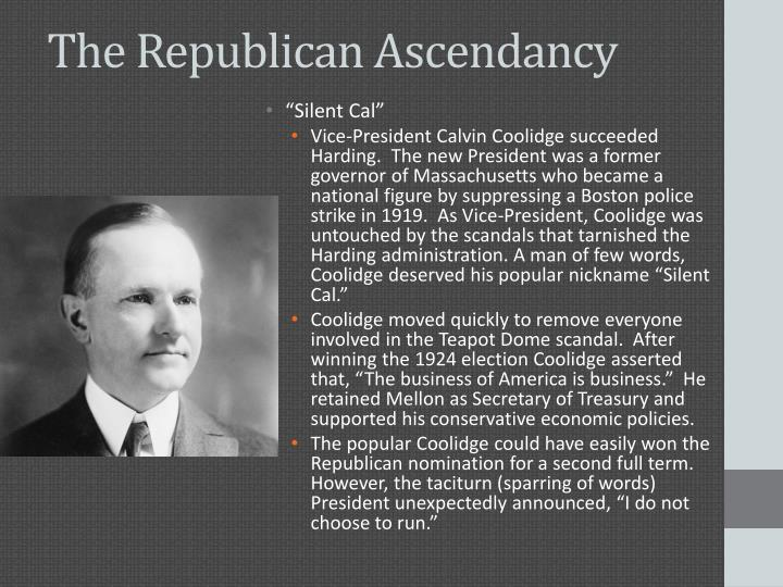 The Republican Ascendancy
