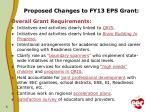 proposed changes to fy13 eps grant3