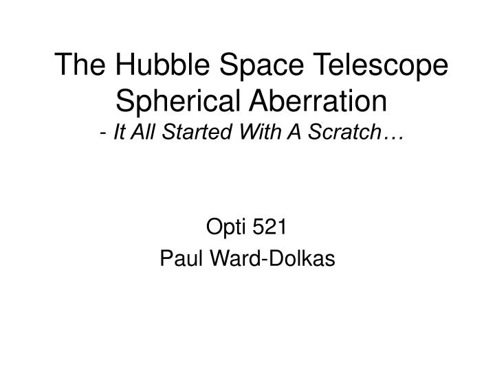 started when the hubble - photo #34