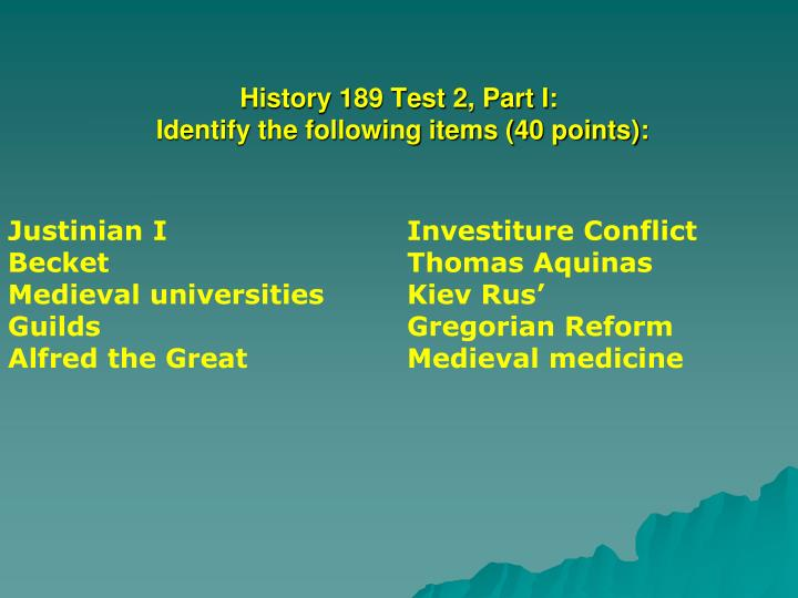 History 189 test 2 part i identify the following items 40 points
