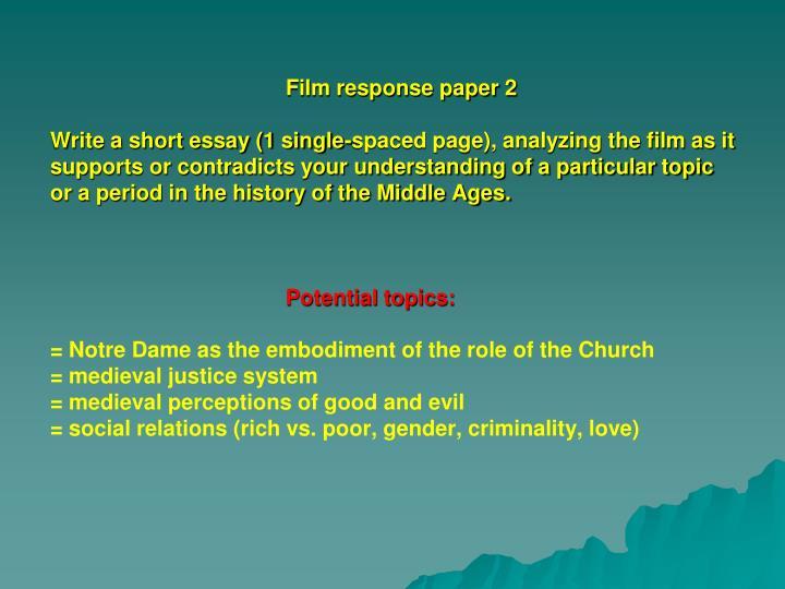 Film response paper 2