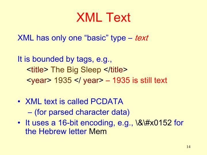 XML Text