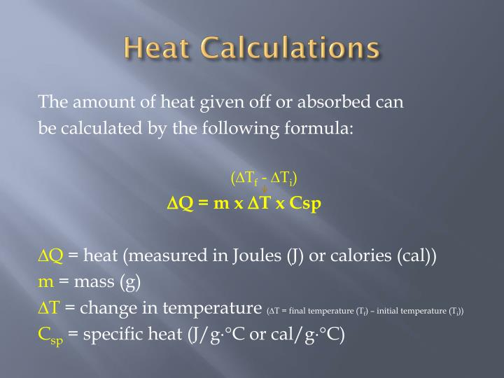 Heat Calculations