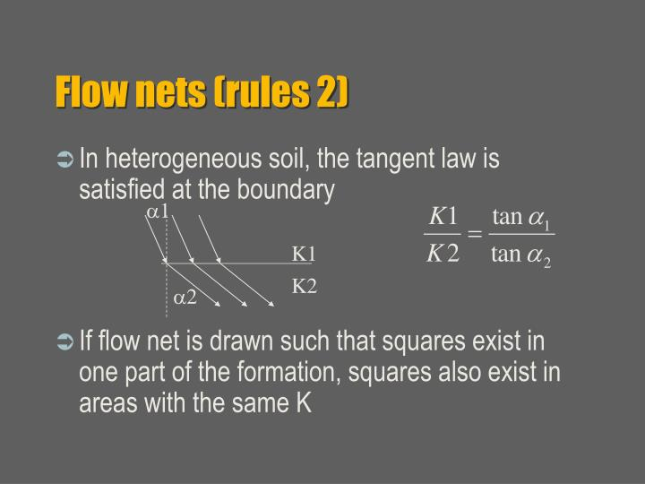 Flow nets (rules 2)
