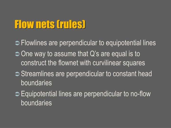 Flow nets (rules)