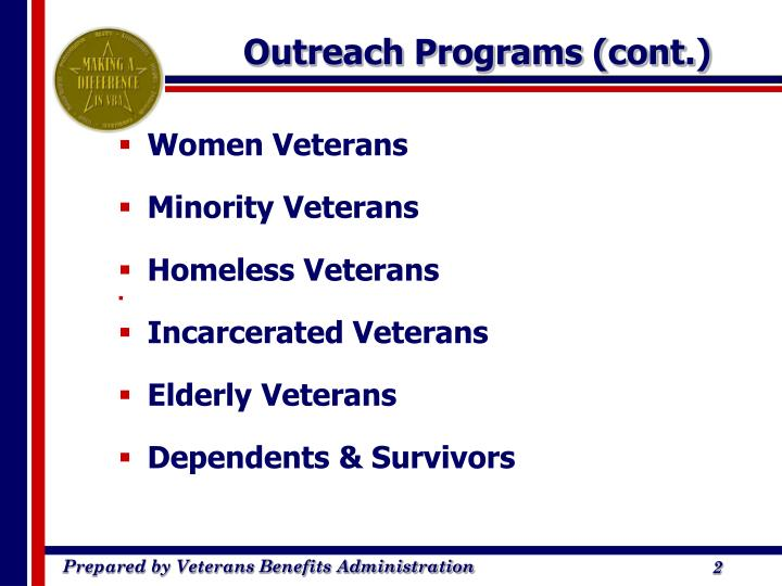 Outreach programs cont
