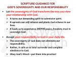 scripture guidance for god s sovereignty and our responsibility1