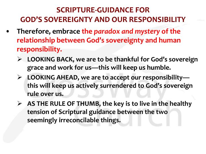 SCRIPTURE-GUIDANCE FOR