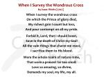 when i survey the wondrous cross by isaac watts 1707