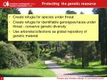 protecting the genetic resource