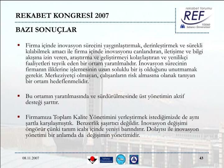 REKABET KONGRESİ 2007