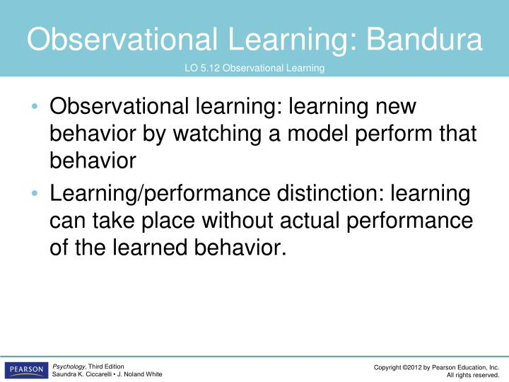 Observational Learning: Bandura