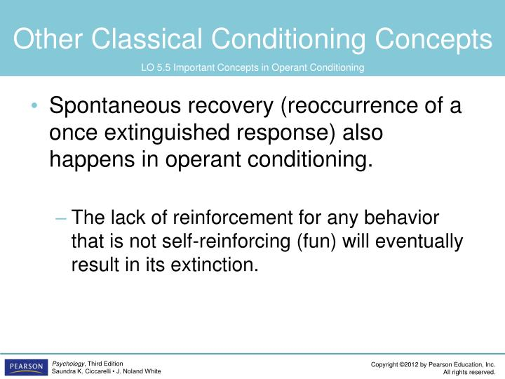 Other Classical Conditioning Concepts