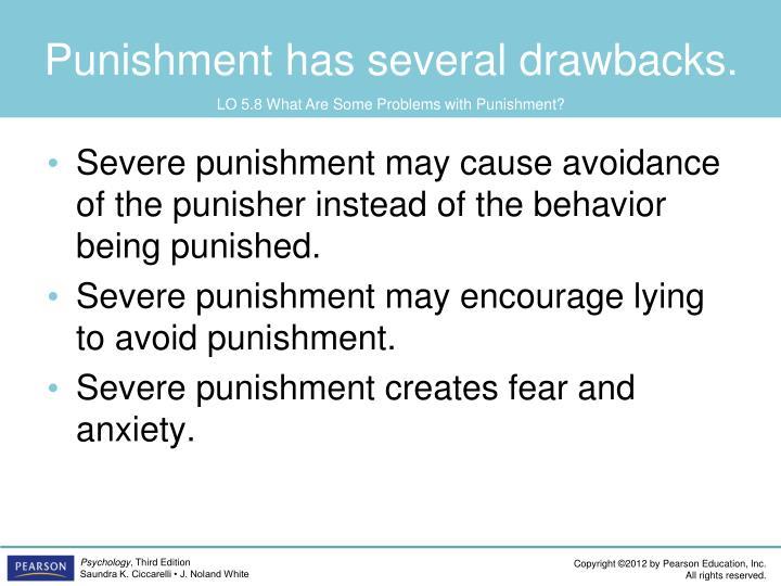 Punishment has several drawbacks.