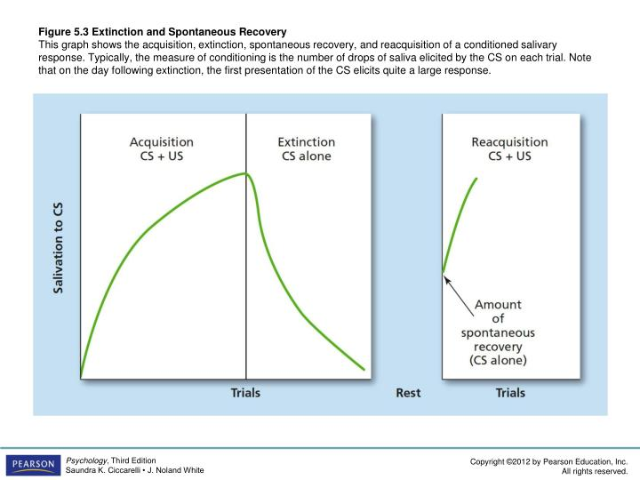 Figure 5.3 Extinction and Spontaneous Recovery