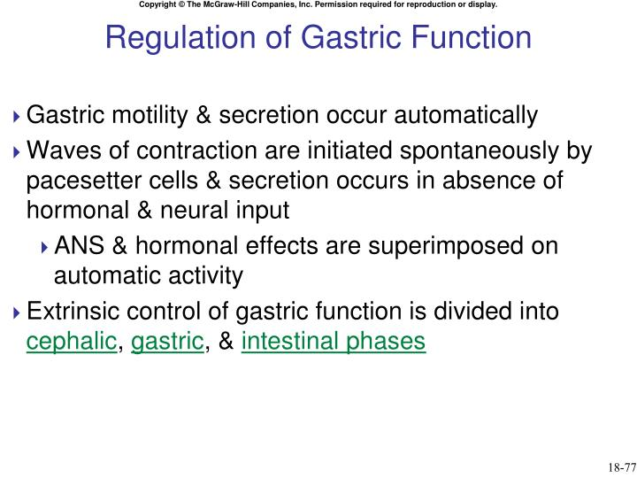Regulation of Gastric Function