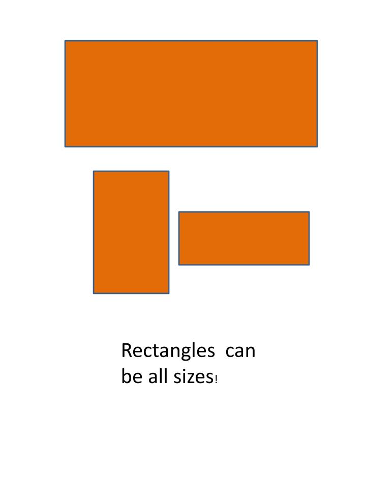 Rectangles  can be all sizes