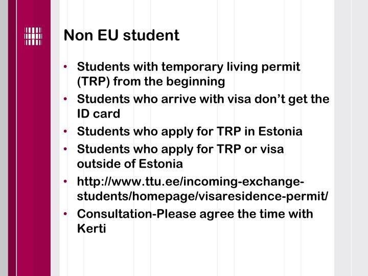 Non EU student