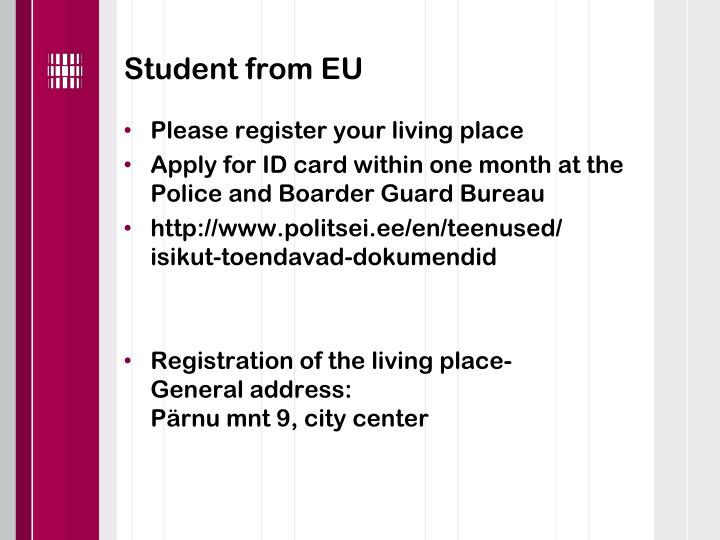 Student from EU