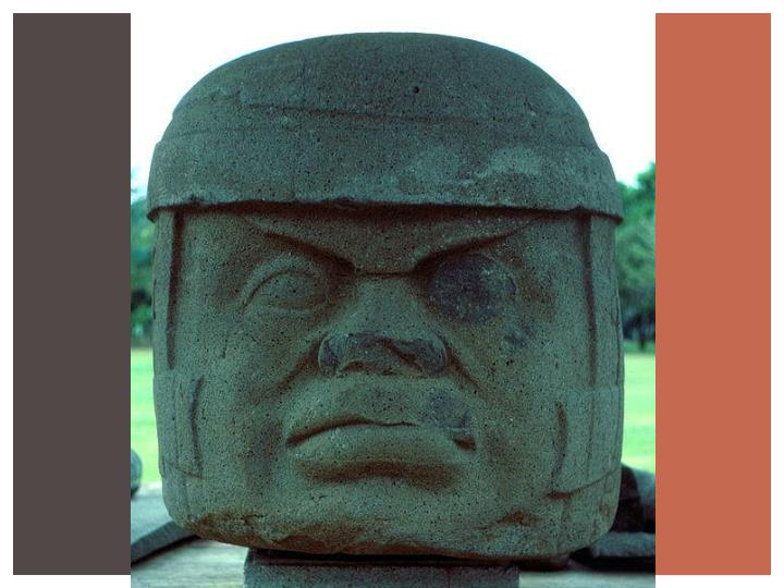 Example of braided hair on olmec statues