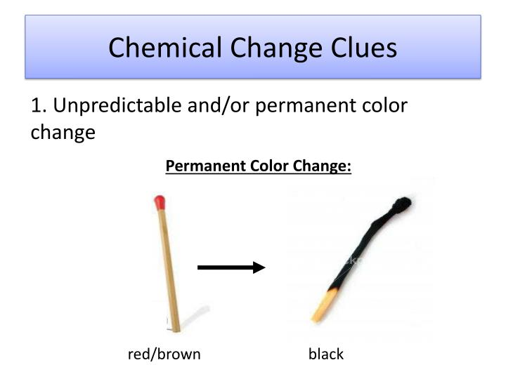 Chemical Change Clues