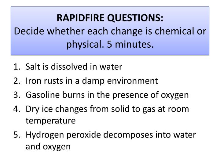 RAPIDFIRE QUESTIONS: