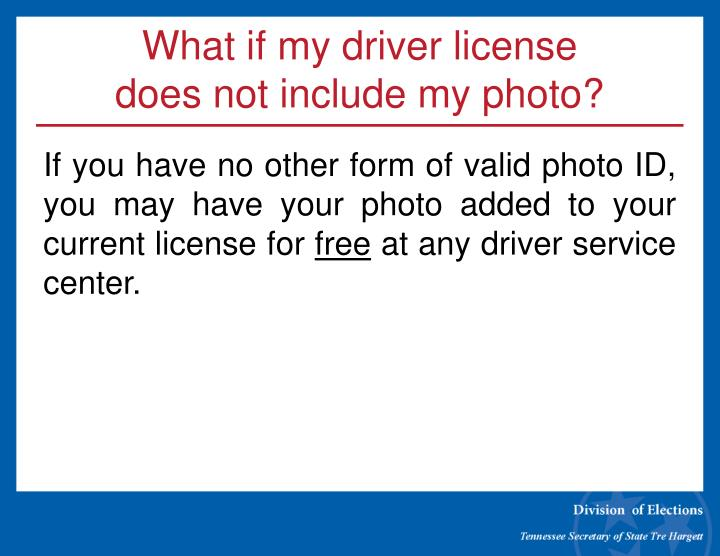What if my driver license
