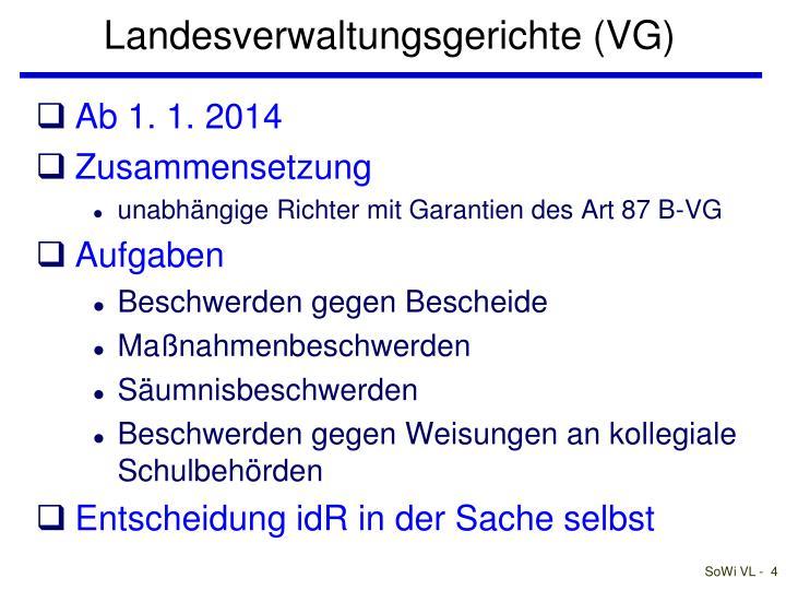 Landesverwaltungsgerichte (VG)