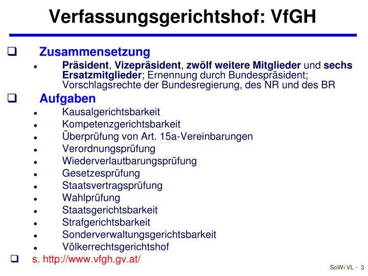 Verfassungsgerichtshof: VfGH