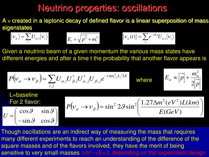 Neutrino properties: oscillations