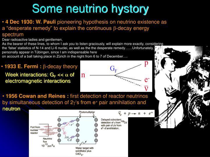 Some neutrino hystory