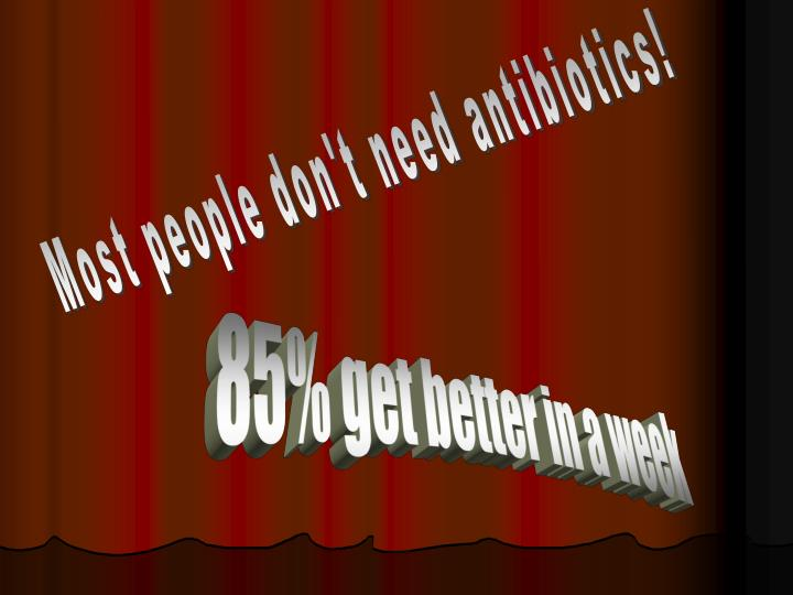 Most people don't need antibiotics!