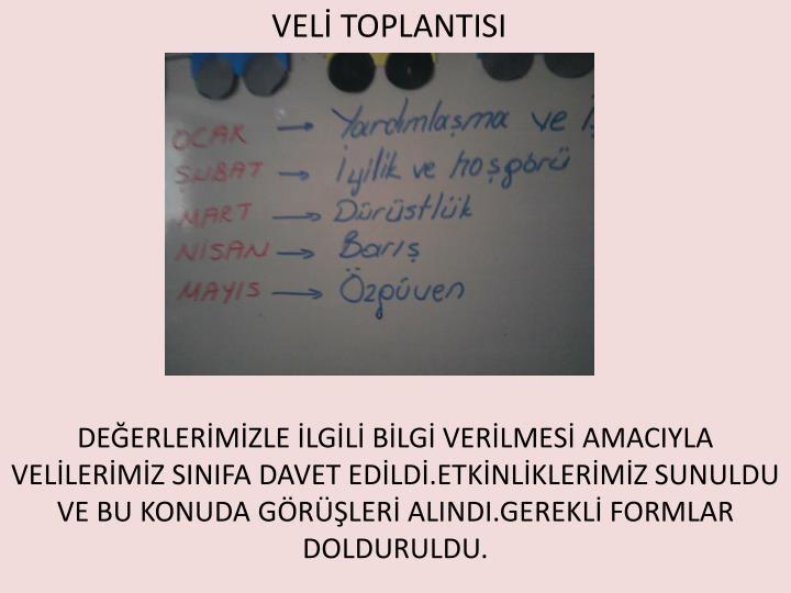 VELİ TOPLANTISI
