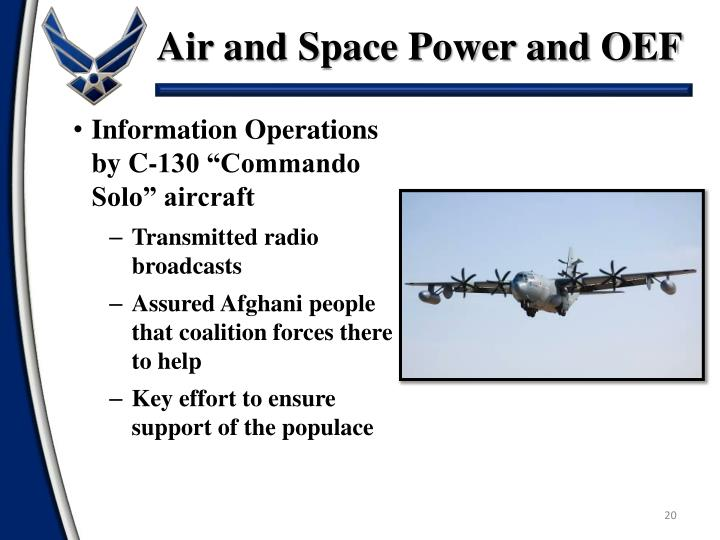 Air and Space Power and OEF
